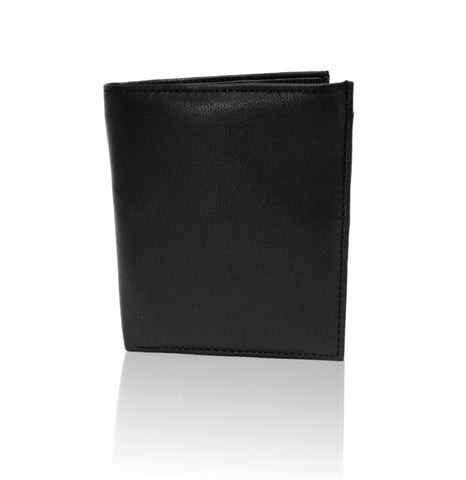 Deluxe RFID-Blocking Genuine Leather Bifold Wallet For Men - Black - WholesaleLeatherSupplier.com  - 3