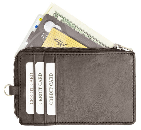 RFID Collection Neck Leather Wallet Brown Color
