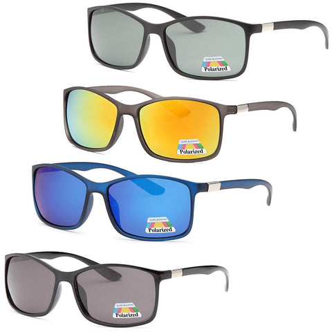 4 PACK Classic Fashion Polarized Lenses Sunglasses 4 Colors Pack