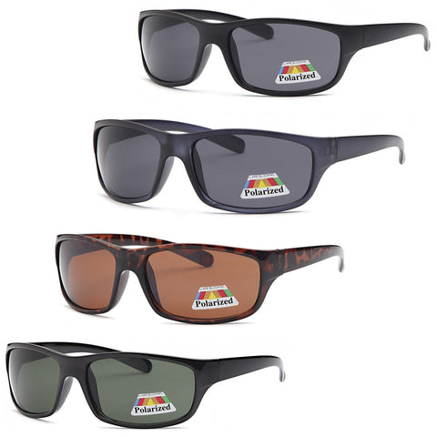 4 PACK Active Wrap Polarized Lenses Sunglasses 4 Colors Pack