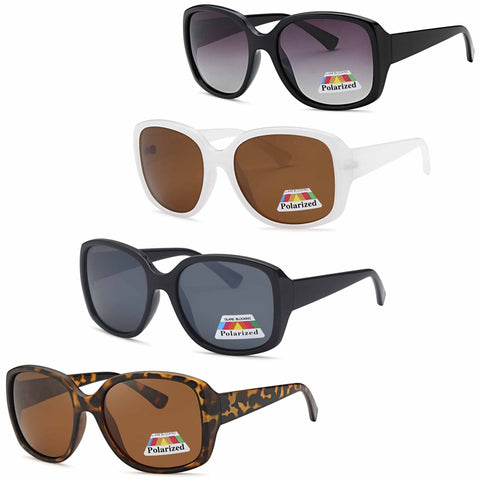 4 PACK Diva Butterfly Polarized Lenses Sunglasses 4 Colors Pack