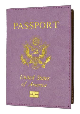 Leather USA Logo Passport Holder - Baby Blue - WholesaleLeatherSupplier.com  - 10