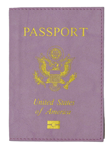 Leather USA Logo Passport Holder - Baby Blue
