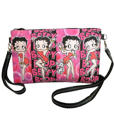 Licensed Betty Boop Crossbody/Clutch Pink Bag