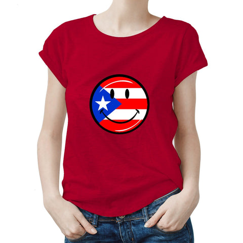 Puerto Rico Smiley Face Women Tee