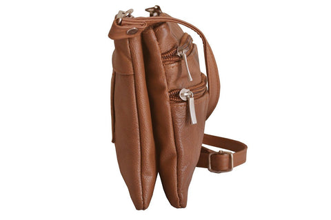 Quality Genuine Leather Cross-Body Bag Tan Color