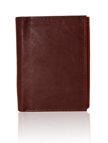 Genuine RFID-Blocking Best Genuine Leather Tri-fold Wallet For Men - Brown - WholesaleLeatherSupplier.com  - 10