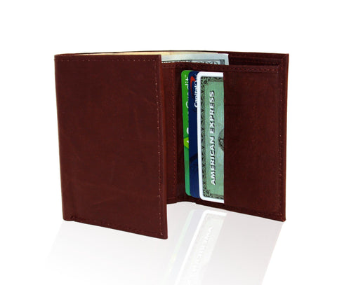 Genuine RFID-Blocking Best Genuine Leather Tri-fold Wallet For Men - Tan - WholesaleLeatherSupplier.com  - 6
