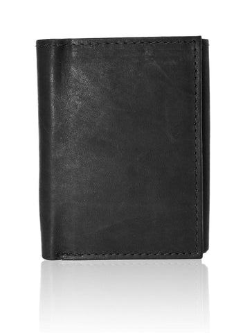 Genuine RFID-Blocking Best Genuine Leather Tri-fold Wallet For Men - Black - WholesaleLeatherSupplier.com  - 4