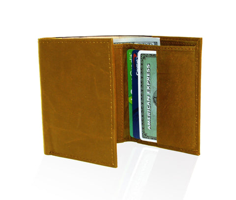 Genuine RFID-Blocking Best Genuine Leather Tri-fold Wallet For Men - Tan - WholesaleLeatherSupplier.com  - 2