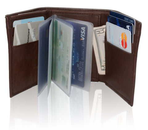 Deluxe RFID-Blocking Genuine Leather Tri-fold Wallet For Men - WholesaleLeatherSupplier.com  - 4