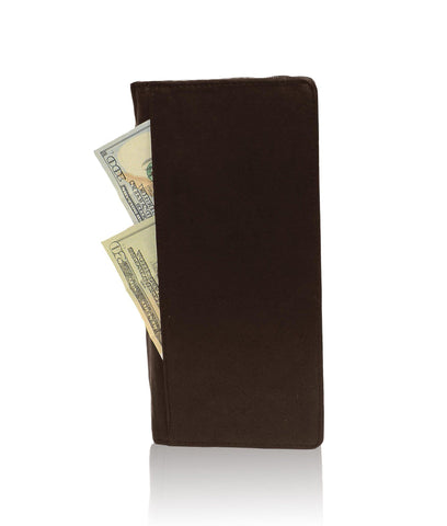 Genuine RFID-Blocking Men's Leather Bifold Wallet Organizer Checkbook Card Case - Tan - WholesaleLeatherSupplier.com  - 12