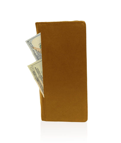 Genuine RFID-Blocking Men's Leather Bifold Wallet Organizer Checkbook Card Case - Tan - WholesaleLeatherSupplier.com  - 3