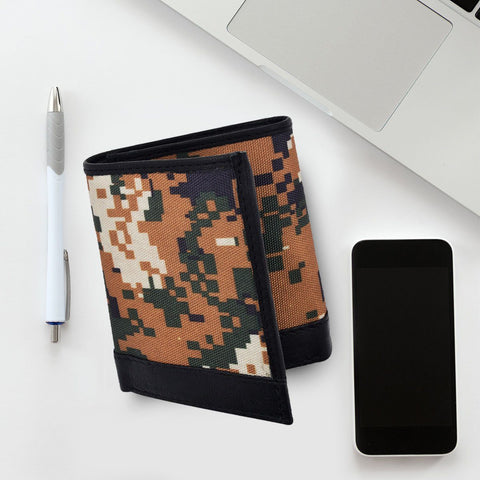 RFID Camouflage Pattern Leather Trifold Wallet