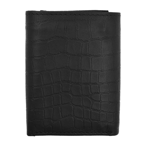 RFID Croco Tri-Fold Men's Wallet