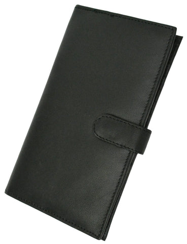 Deluxe RFID-Blocking Soft Leather Bifold with Button Closure - Black - WholesaleLeatherSupplier.com  - 4