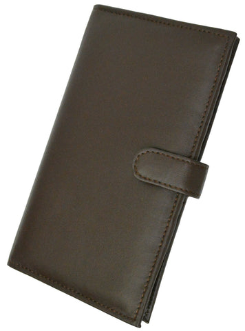 Deluxe RFID-Blocking Soft Leather Bifold with Button Closure - Black - WholesaleLeatherSupplier.com  - 7