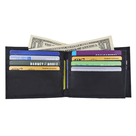 RFID Camo Billfold Leather Wallet