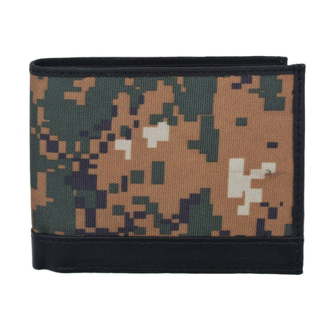 RFID Camouflage Pattern ID window Leather Wallet