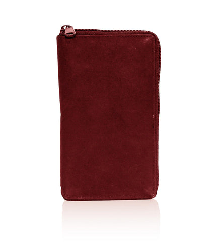 Deluxe RFID-Blocking Durable Genuine Leather Men's Credit Card Holder - Burgundy