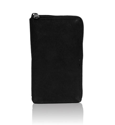 Deluxe RFID-Blocking Durable Genuine Leather Men's Credit Card Holder - Black