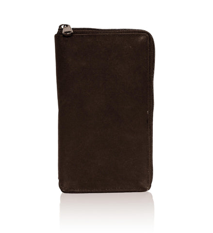 Deluxe RFID-Blocking Durable Genuine Leather Credit Card Holder - Brown - WholesaleLeatherSupplier.com  - 3