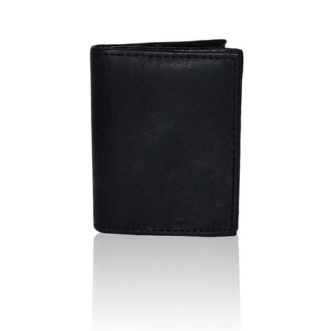 Compact RFID-Blocking Men's Multi-Card Center Flip Bifold Wallet - Tan - WholesaleLeatherSupplier.com  - 15