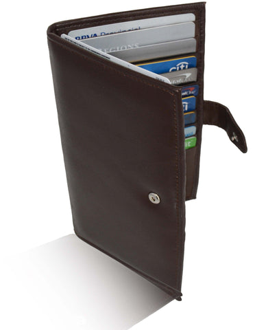 Deluxe RFID-Blocking Soft Leather Bifold with Button Closure - Black - WholesaleLeatherSupplier.com  - 6
