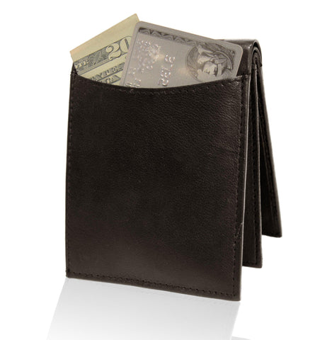 Deluxe RFID-Blocking Genuine Leather BiFold - Black - WholesaleLeatherSupplier.com  - 9