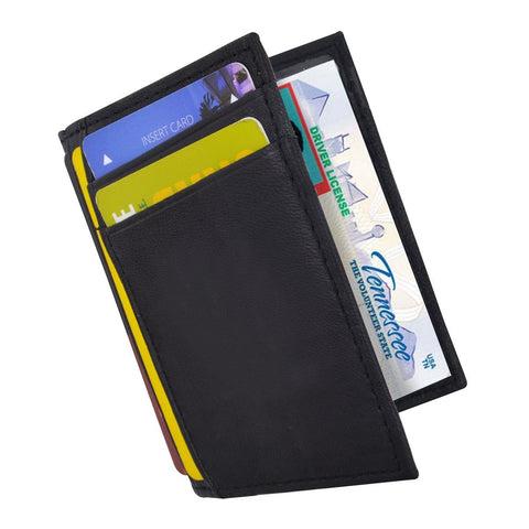 RFID Slim Design Leather Card Case
