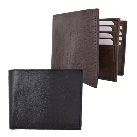 AFONiE RFID- Croco RFID Flip Bifold Wallet For Men