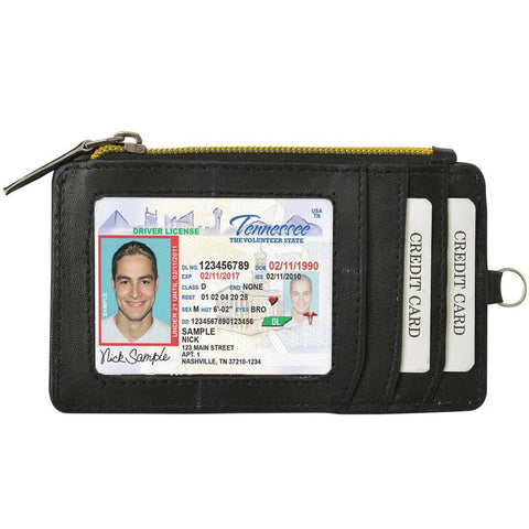 AFONiE-RFID Let It All Hand Leather Black Wallet