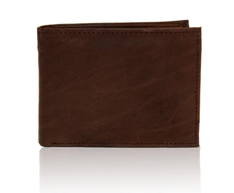 Deluxe RFID-Blocking Premium Soft Genuine Leather Bi-fold - Brown