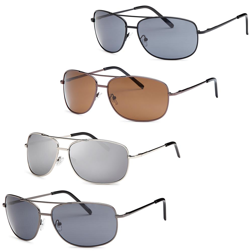 Men Metal Style Square Sunglasses - Pack of 4