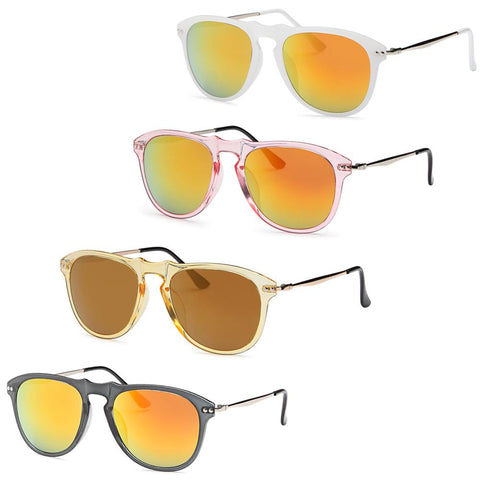 Timeless Modern Fashion Style Frame Sunglasses - Pack of 4