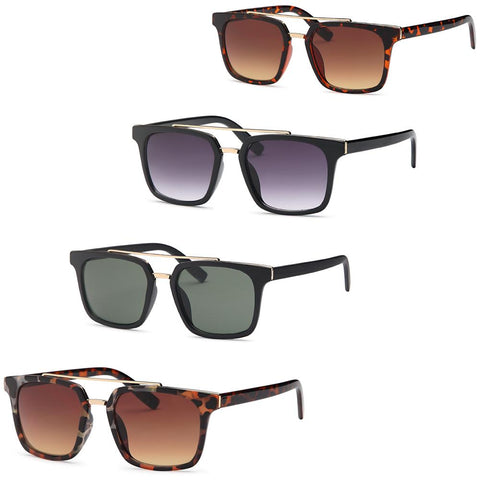 Square Shape Unisex Sunglasses - Pack of 4