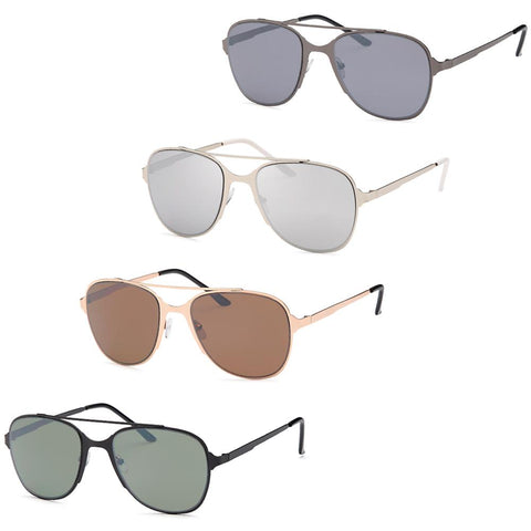 Modern large Metal Style Frame Unisex Glasses - Pack of 4