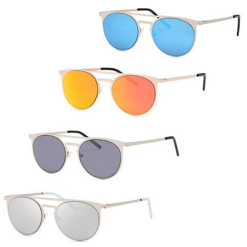 Modern Metal Round Fashion Sunglasses - Pack of 4