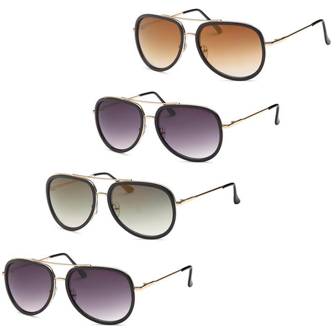 Modern Aviator Fashion Sunglasses - Pack of 4