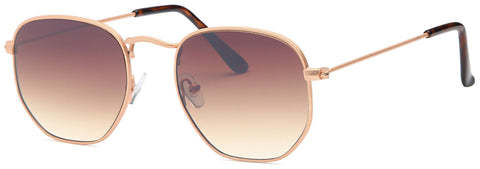 Modern Round Aviator Fashion Unisex Sunglasses - Pack of 4