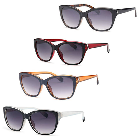 AFONiE Thick Frame Retro Square Sunglasses (4 pack)