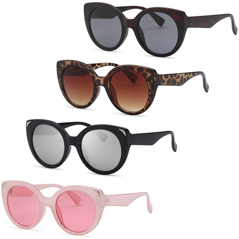 Dive Cat Eyes Thick Frame Sunglasses for women - 4Pack