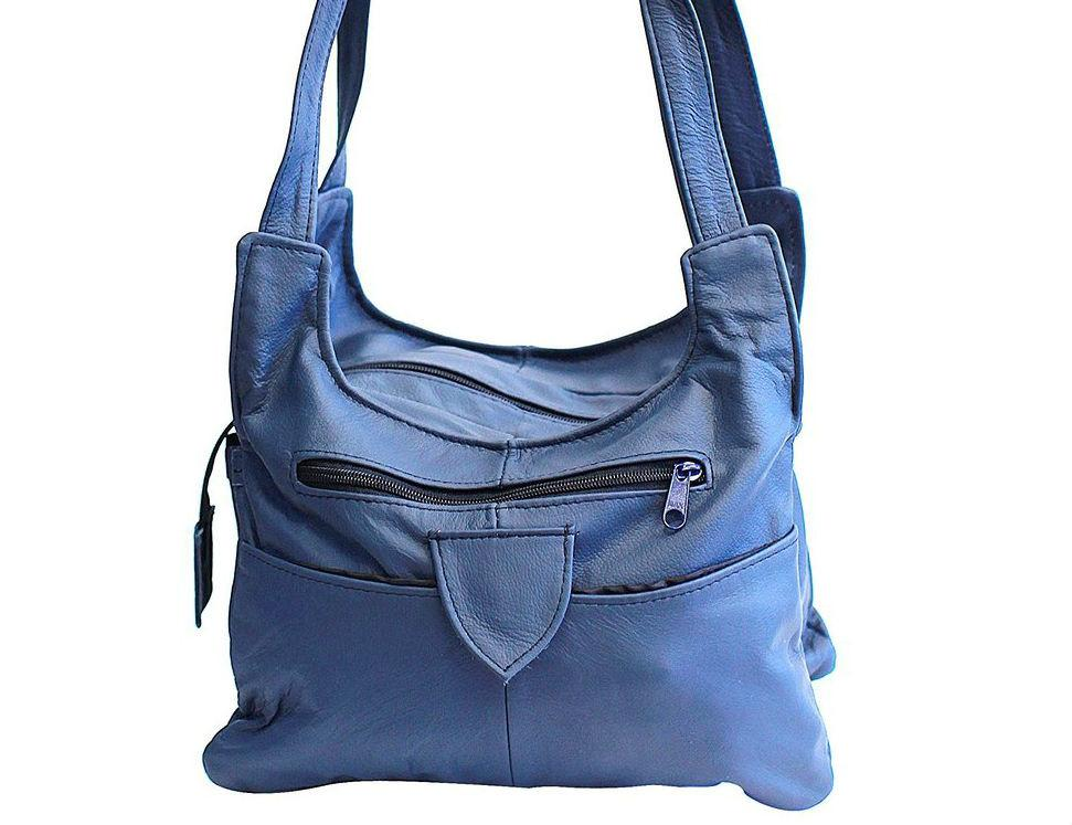 Shoulder Leather Handbag Handbags WholesaleLeatherSupplier.com Blue