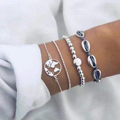 Silver Ocean World Women Bracelets