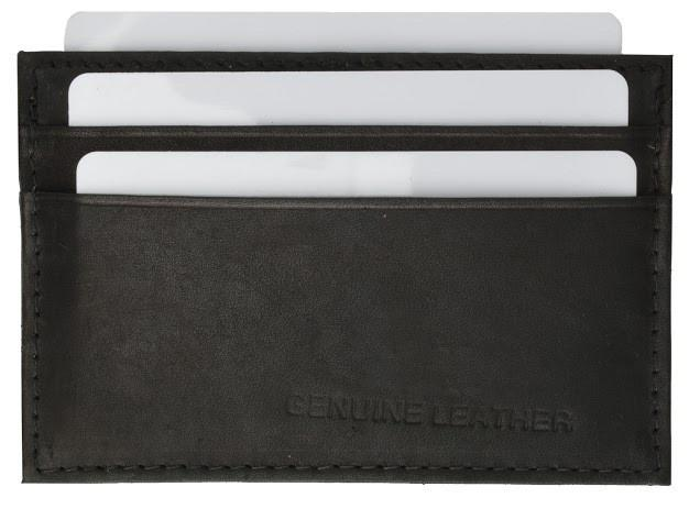 Slim Genuine Leather Credit Card Holder