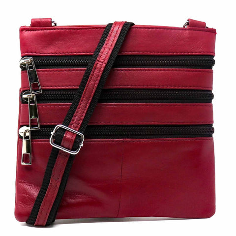 Slim Lightweight Leather Crossbody Purse