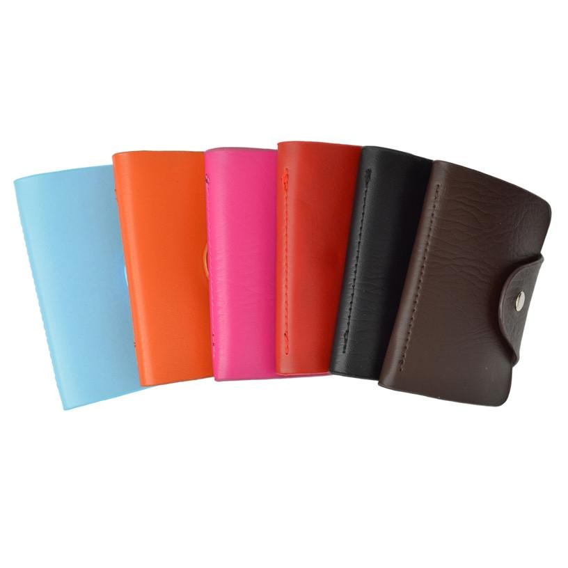 Soft  Durable Leather Credit Card Holder Assorted Colors - WholesaleLeatherSupplier.com  - 1