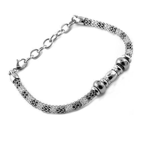 Stainless Steel White Mesh Bracelet