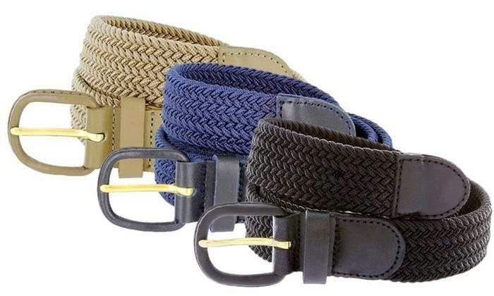 Braided Stretch Belt - WholesaleLeatherSupplier.com  - 2