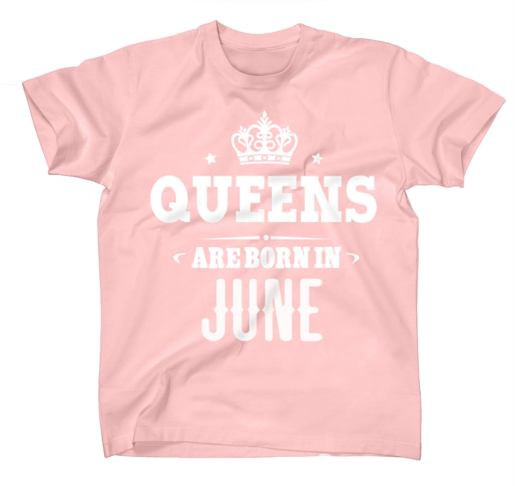 AFONiE Queens Are Born In Kids T-Shirt Pink